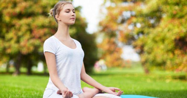 瞑想をお昼休み
